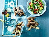 Fish And Chips mit Salat