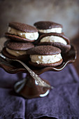 Whoopie Pies on a cake stand