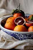 Blood Oranges in a fruit bowl