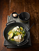 Jjigae (Korean stew) with tofu and courgette