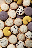 Various cookies (full-frame, seen from above)