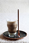 Layered coffee in a glass