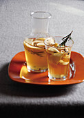 Apple cider with rosemary
