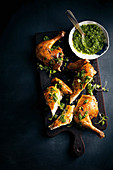 Rosated chicken with skhug
