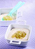 Baby food made with semolina and grapes