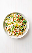 Orecchiette with bacon and brussels sprouts