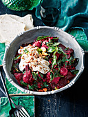 Beetroot and pumpkin curry