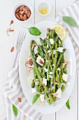 Aspragus and Almond Salad