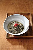 Steamed sesame with groundsel (Korea)