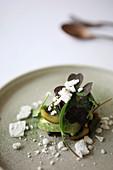 Salat mit Zitroneneis