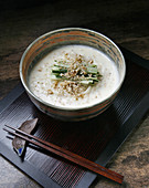 Kongguksu (seasonal Korean noodle dish served in a cold soy milk broth)
