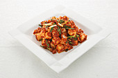 Kkaktugi (Korean hot radish kimchi)