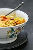 Split pea and saffron soup