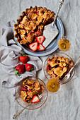 Erdbeer-Rhabarber-Kuchen, glutenfrei