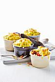 Chilli Pot Pies mit Käse und Blumenkohl
