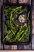 Broccolini with nori and salt