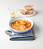 Spatatata viterbese (potato soup, Viterbo, Italy)