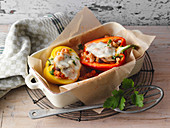 Stuffed vegetarian peppers (low carb)
