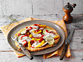 Low-Carb-Pizza (vegetarisch)