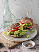Portobello burger (low carb)