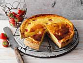 Strawberry and quark cake (low carb)