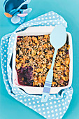Apple and Berry Crumble for Kids