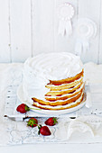 Preparing Strawberry and Passionfruit Mile-High Layer Cake