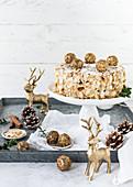 Christmas almond cake