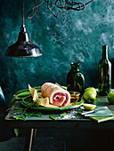 Pork loin with green apples