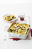 Lasagne with Cardoncelli Mushrooms, Chard and Walnuts