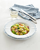 Gnocchi with savoy cabbage and bacon