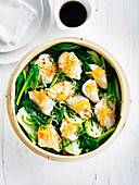 Steamed Orange Ginger Chicken with Greens