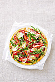 Pancetta and roasted tomato pizza (gluten free)