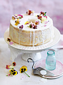 Orange Blossom and Raspberry Angel Food Cake