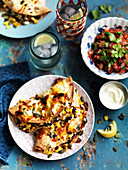 Corn and Kidney Bean Quesadillas with Tomato Salsa