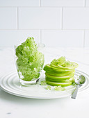 Green Apple Salad with Lemon Ice