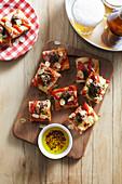 Partypizzas mit Fleischbällchen