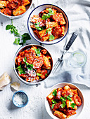 Rigatoni with Arrabbiata Chorizo Sauce