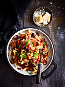 Eggplant, Olive and Pine Nut Pasta Sauce