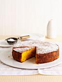 Mandarin, Polenta and Macadamia Cake