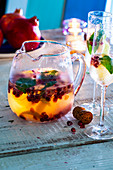 A garden party with sangria