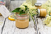 Homemade elderflower curd