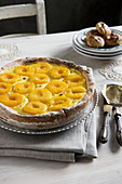 Dutch peach tart from Limburg