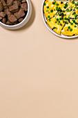 Marokkanische Lammfilets und Erbsen-Omelett