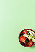 Fennel and tomato salad with olives