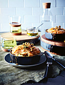 Fish and sorrel pies