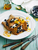 Blueberry Poppy Seed Crepes