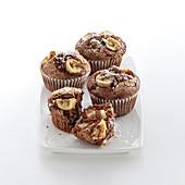 Bananen-Kakao-Muffins mit Kokos