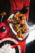 General Tso's chicken (American-Chinese crossover classic)