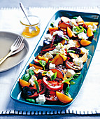 Tomato and plum salad with feta